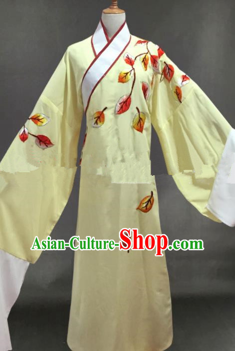 Professional Chinese Traditional Beijing Opera Niche Yellow Clothing Ancient Scholar Costume for Men