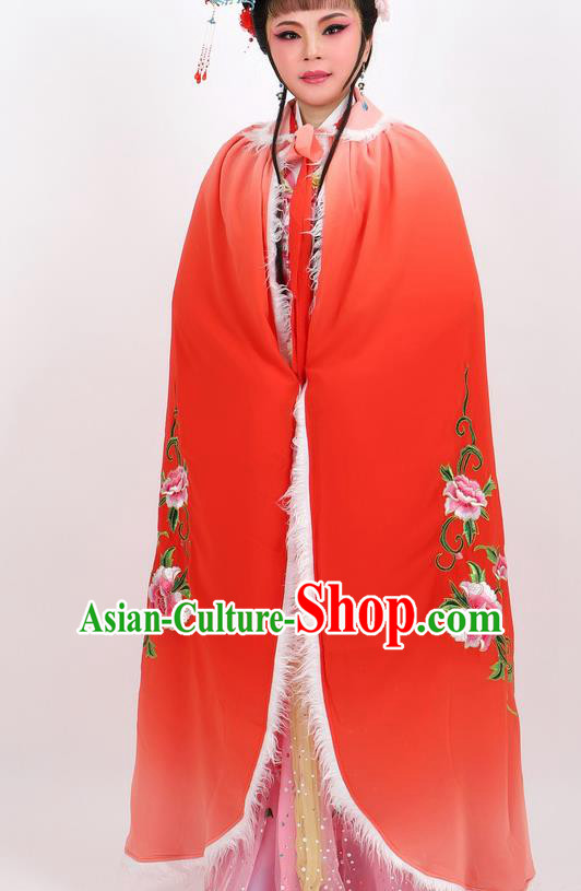 Professional Chinese Traditional Beijing Opera Red Cape Ancient Princess Costume for Women