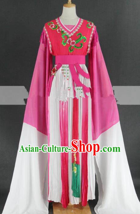 Professional Chinese Traditional Peking Opera Rosy Dress Ancient Palace Maid Costume for Women