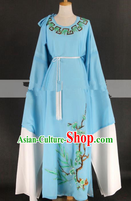 Professional Chinese Traditional Beijing Opera Niche Blue Clothing Ancient Scholar Costume for Men