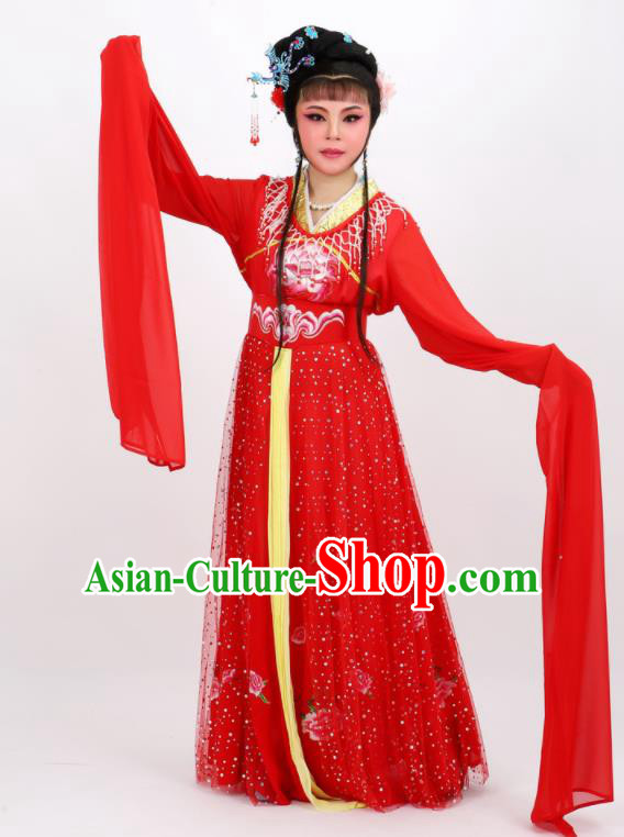 Professional Chinese Traditional Peking Opera Princess Red Dress Ancient Palace Lady Costume for Women