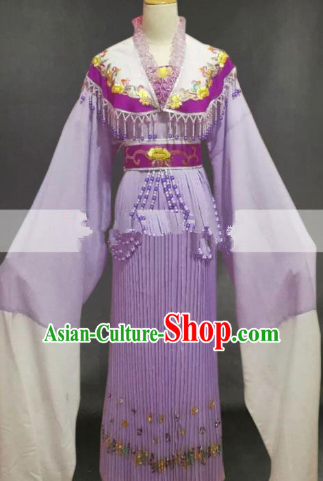 Chinese Traditional Peking Opera Diva Purple Dress Ancient Palace Lady Costume for Women