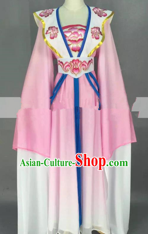 Chinese Traditional Peking Opera Actress Court Maid Pink Dress Ancient Rich Lady Costume for Women