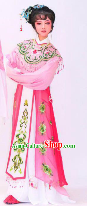 Chinese Traditional Peking Opera Princess Pink Dress Ancient Imperial Consort Costume for Women