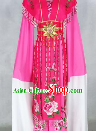 Chinese Traditional Peking Opera Rosy Dress Ancient Imperial Consort Costume for Women
