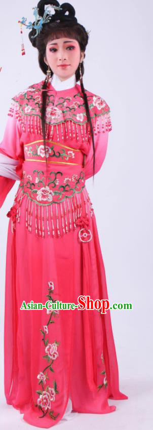 Chinese Traditional Peking Opera Actress Hua Tan Rosy Dress Ancient Rich Lady Costume for Women