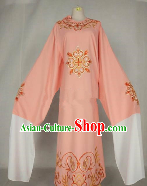 Chinese Traditional Beijing Opera Niche Pink Robe Ancient Number One Scholar Costume for Men
