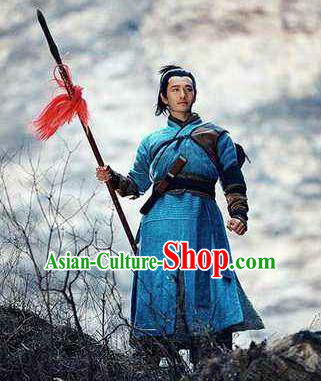Chinese Ancient Southern Song Dynasty General Yue Fei Costumes Complete Set