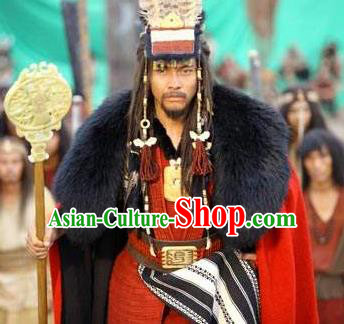 Chinese Ancient Mythology Yellow Emperor Xuanyuan Huangdi Costumes Complete Set