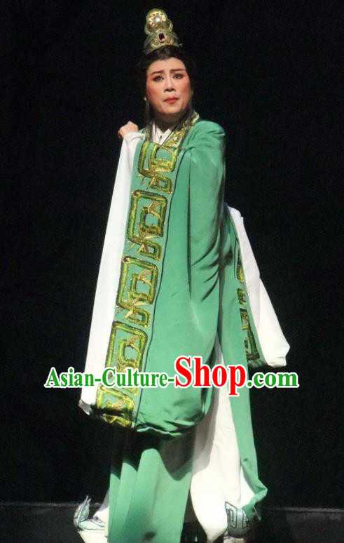 Chinese Ancient Warring States Period Minister Han Fei Deep Green Hanfu Clothing Philosopher Han Feizi Hanfu Costumes Complete Set
