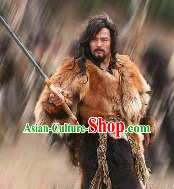 Chinese Ancient Mythology Yellow Emperor Xuanyuan Tribal Leader Huangdi Costumes Complete Set
