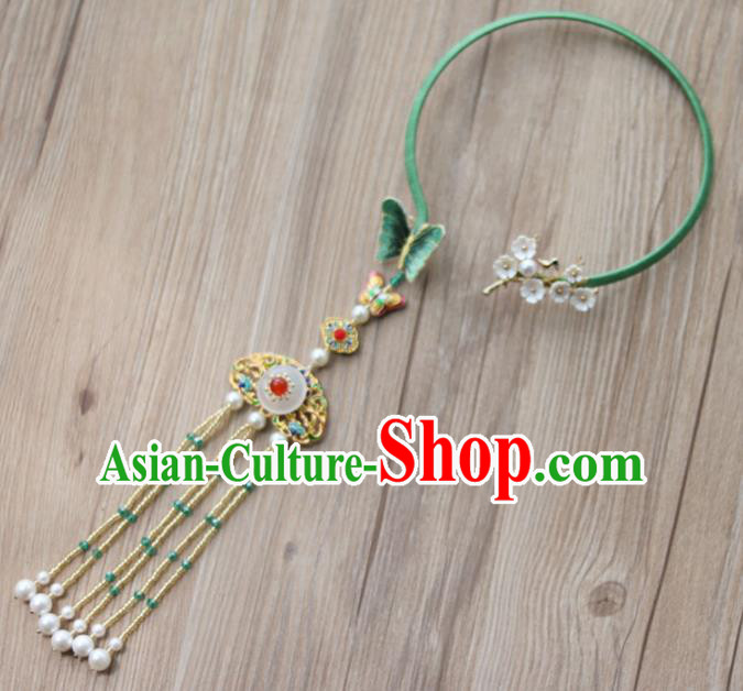 Chinese Traditional Hanfu Court Embroidered Necklet Accessories Ancient Ming Dynasty Princess Necklace for Women