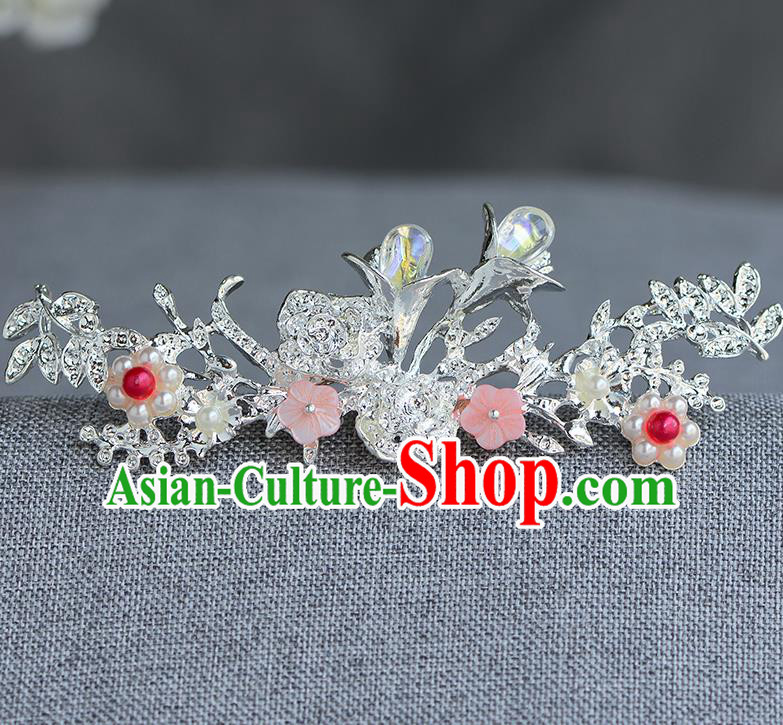 Chinese Ancient Tang Dynasty Princess Crystal Hair Clip Hairpins Traditional Hanfu Court Hair Accessories for Women
