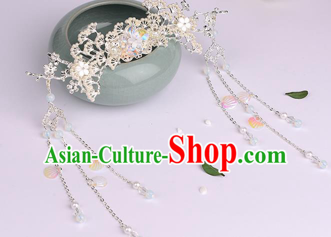 Chinese Ancient Tang Dynasty Princess Pine Hair Crown Hairpins Traditional Hanfu Court Hair Accessories for Women