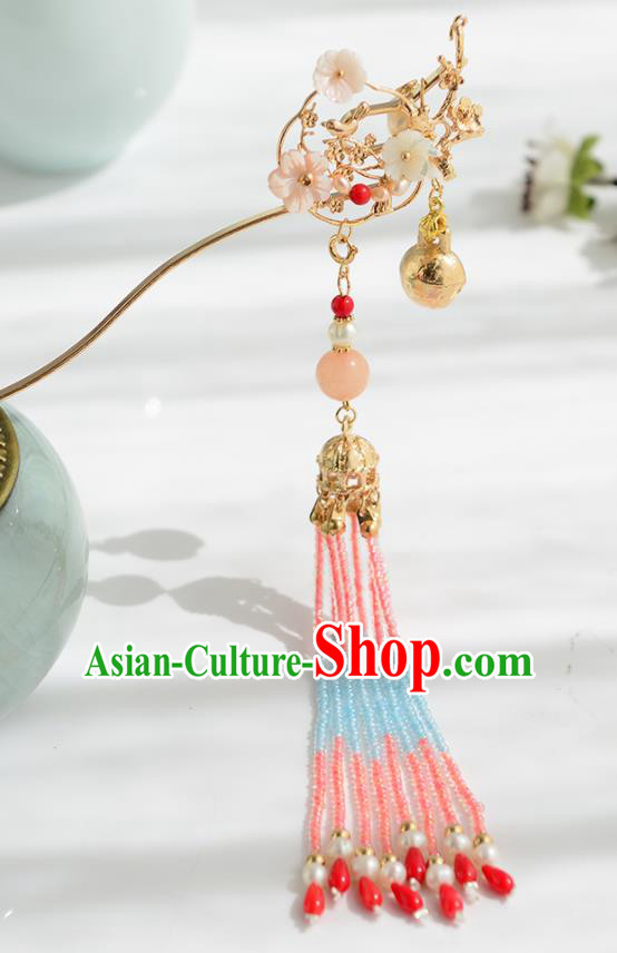 Chinese Ancient Tang Dynasty Princess Hair Clip Tassel Hairpins Traditional Hanfu Court Hair Accessories for Women