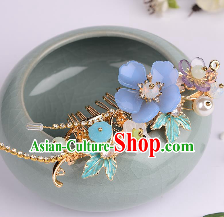 Chinese Ancient Tang Dynasty Princess Hair Comb Hairpins Traditional Hanfu Court Hair Accessories for Women