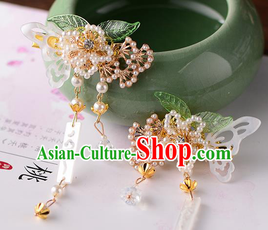 Chinese Ancient Ming Dynasty Princess Pine Hair Claws Hairpins Traditional Hanfu Court Hair Accessories for Women