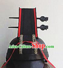 Chinese Traditional Handmade Ming Dynasty Imperial Bodyguard Hat Ancient Drama Swordsman Headwear for Men