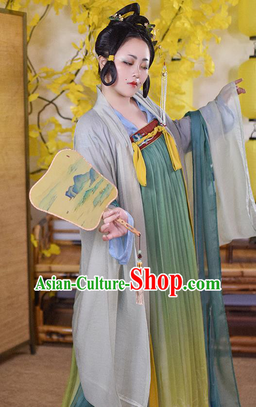 Traditional Chinese Tang Dynasty Court Consort Replica Costumes Ancient Imperial Concubine Hanfu Dress for Women