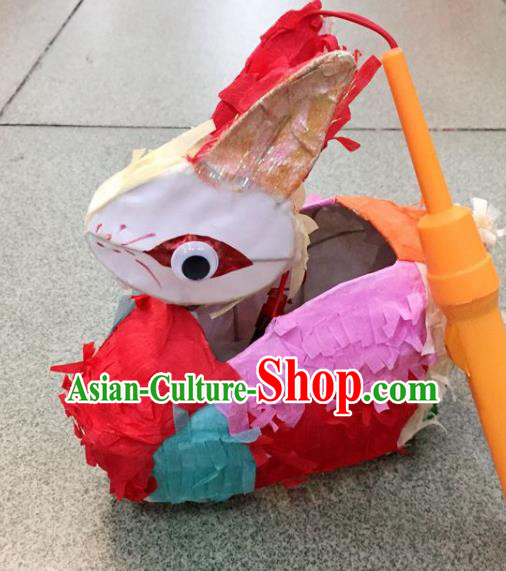 Chinese Traditional New Year Colorful Rabbit Palace Lantern Handmade Hanging Lantern Asian Ceiling Lanterns Ancient Lamp