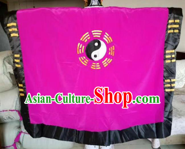 Chinese Traditional Taoism Costume Ancient Taoist Priest Cassocks Embroidered Tai Chi Purple Vestment