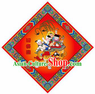 Chinese New Year Sticker Decoration Paper Picture Supplies China Traditional Spring Festival Pray Items