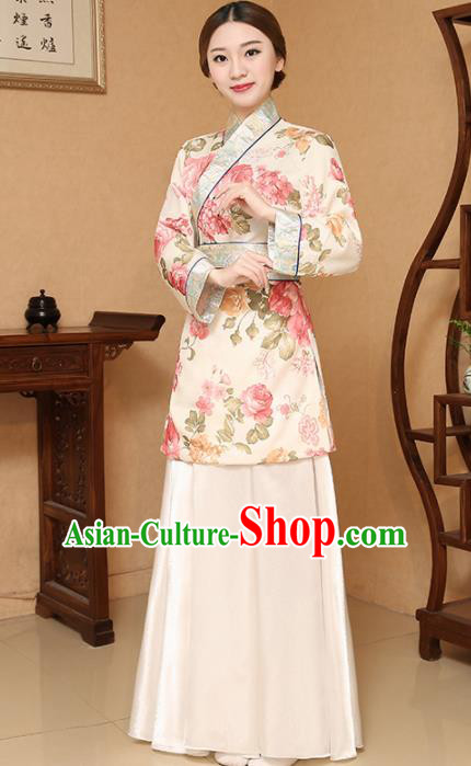 Chinese Traditional Song Dynasty Female Civilian Costume Ancient Farmwife Clothing for Women