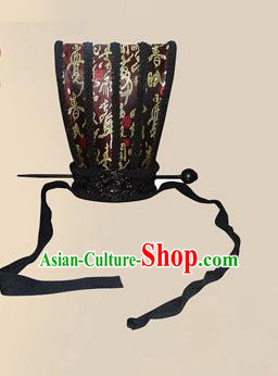 Chinese Ancient Minister Hairdo Crown Traditional Han Dynasty Nobility Childe Headwear for Men