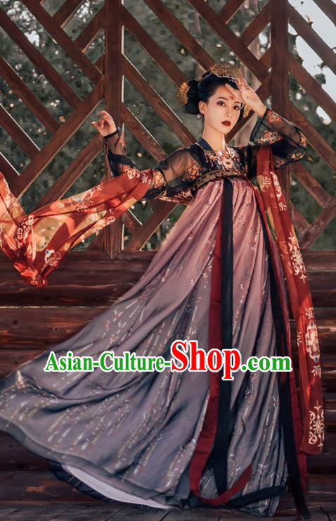 Traditional Chinese Tang Dynasty Imperial Consort Historical Costumes Ancient Royal Princess Hanfu Dress for Women