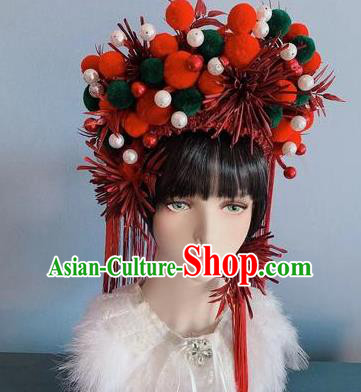 Traditional Chinese Deluxe Phoenix Coronet Hair Accessories Halloween Stage Show Headdress for Women