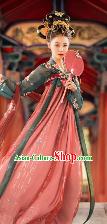 Traditional Chinese Tang Dynasty Court Consort Replica Costumes Ancient Goddess Princess Hanfu Dress for Women