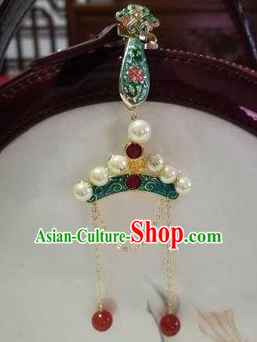 Traditional Chinese Handmade Court Blueing Brooch Jewelry Accessories Ancient Princess Breastpin for Women