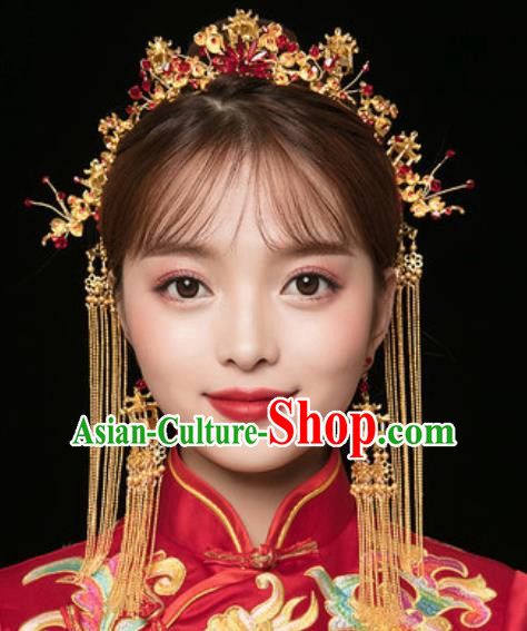 Traditional Chinese Wedding Luxury Hair Clasp Ancient Bride Hairpins Hair Accessories Complete Set