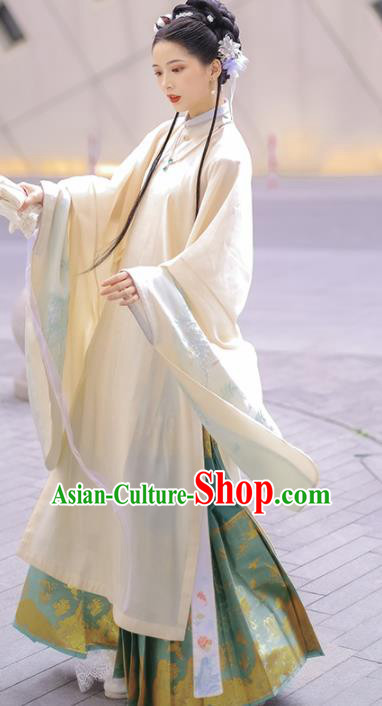Traditional Chinese Ming Dynasty Imperial Concubine Replica Costumes Ancient Royal Princess Hanfu Dress for Women