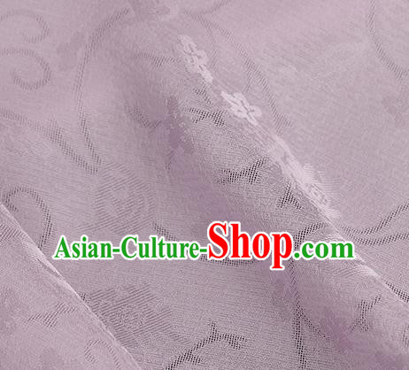 Traditional Chinese Classical Plum Blossom Pattern Pink Silk Fabric Ancient Hanfu Dress Silk Cloth