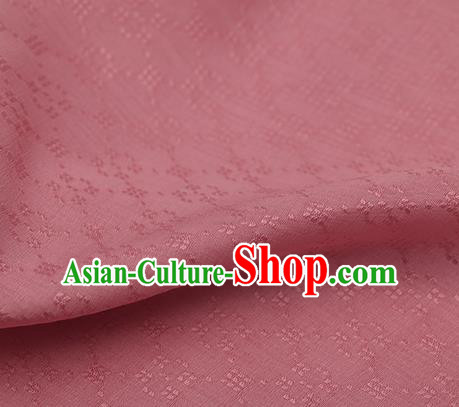 Traditional Chinese Classical Rhombus Pattern Pink Silk Fabric Ancient Hanfu Dress Silk Cloth
