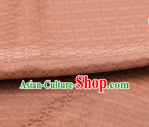 Traditional Chinese Classical Rhombus Pattern Orange Silk Fabric Ancient Hanfu Dress Silk Cloth