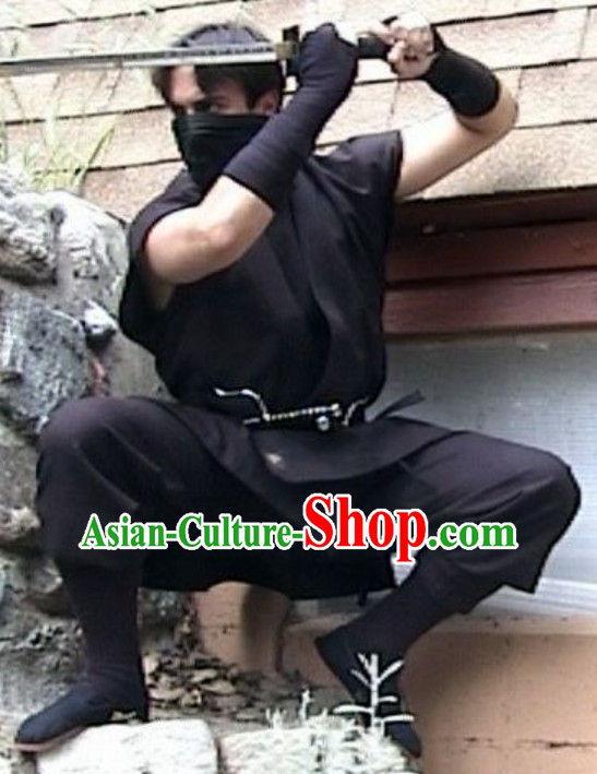 Ancient Asian Japanese Ninja Costume Complete Set for Men