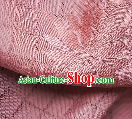 Traditional Chinese Classical Lotus Pattern Design Pink Silk Fabric Ancient Hanfu Dress Silk Cloth