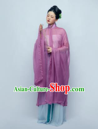 Traditional Chinese Ancient Dowager Purple Hanfu Dress Ming Dynasty Court Lady Replica Costume for Women