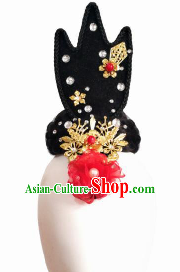 Chinese Traditional Classical Dance Hair Accessories Fan Dance Wig Chignon Headdress for Women
