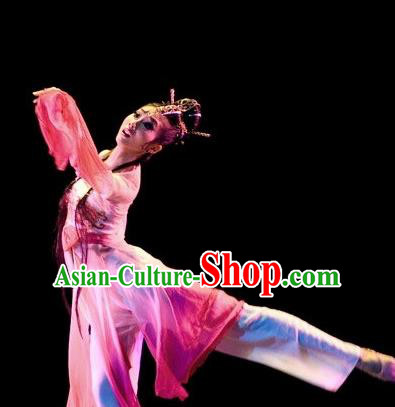 Chinese Traditional Classical Dance Fan Dance Outfits Group Dance Costume for Women