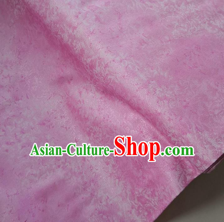 Traditional Chinese Classical Pattern Deep Pink Brocade Fabric Ancient Hanfu Cheongsam Silk Cloth