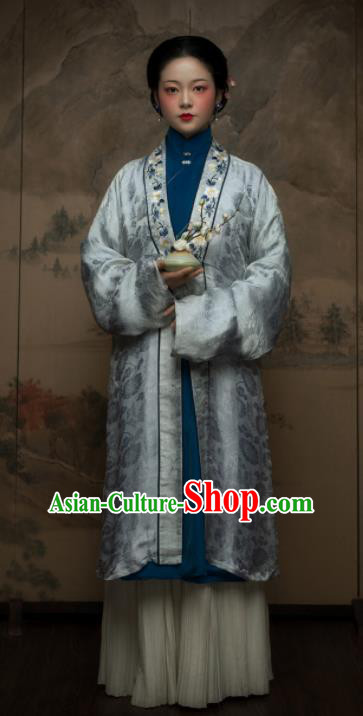 Traditional Chinese Ming Dynasty Royal Countess Hanfu Dress Ancient Nobility Mistress Replica Costumes for Women