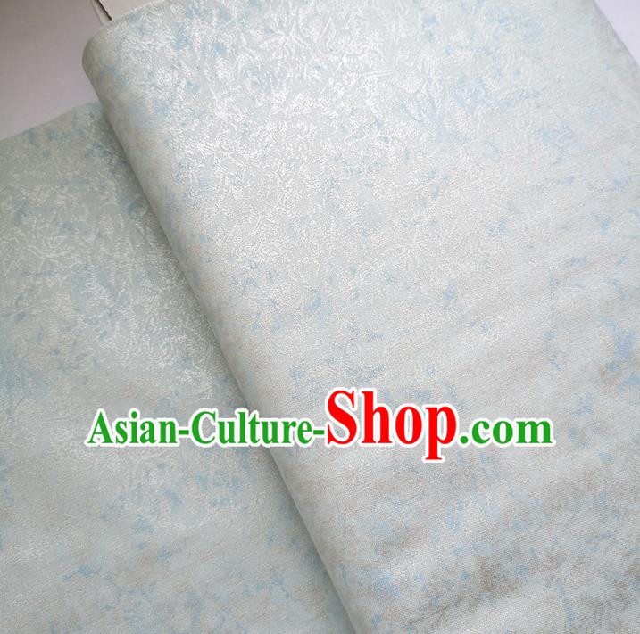 Traditional Chinese Cheongsam Classical Light Blue Pattern Brocade Fabric Ancient Hanfu Silk Cloth