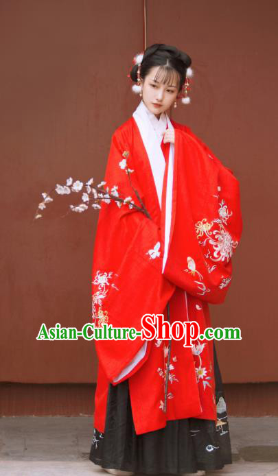 Traditional Chinese Ming Dynasty Nobility Lady Replica Costumes Ancient Princess Hanfu Dress for Women
