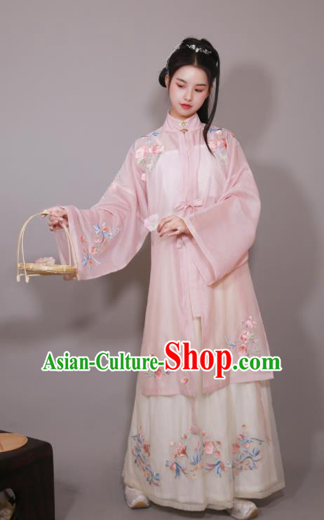Traditional Chinese Ming Dynasty Rich Female Replica Costumes Ancient Nobility Lady Hanfu Dress for Women