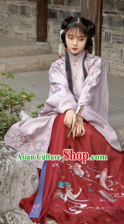 Traditional Chinese Ming Dynasty Nobility Lady Dress Ancient Hanfu Royal Princess Replica Costumes for Women