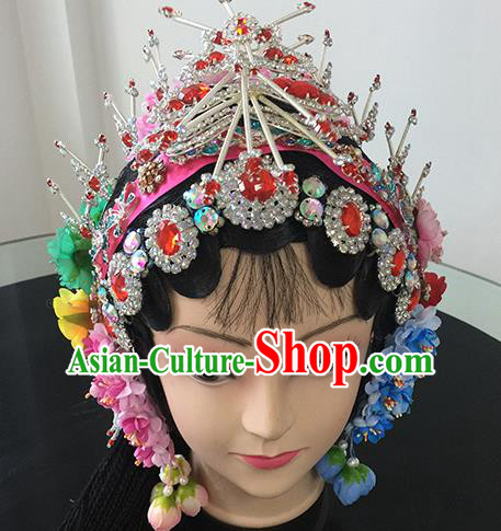 Chinese Beijing Opera Headgear Traditional Peking Opera Actress Wig Sheath and Hair Accessories for Women