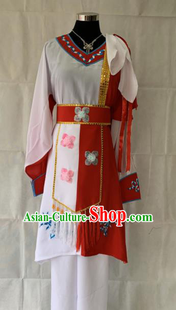 Chinese Beijing Opera Servant Girl Dress Traditional Peking Opera Maidservant Costume for Women